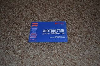 Ricoh Shotmaster Zoom 105 Plus 35mm camera owners manual 1992