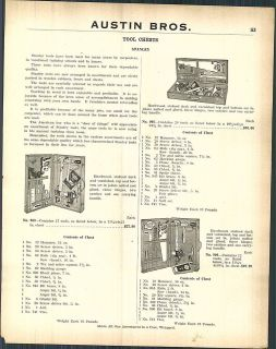 1923 AD Stanley Tool Chests Machinists Tool Box Make your own