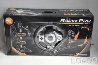 New Subsonic Racing Pro Seat And Steering Wheel For PlayStation 3 And