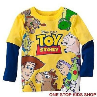 TOY STORY Toddler Boys 2T 3T 4T Tee SHIRT Top Buzz WOODY Rex
