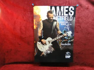 2012 Metallica *James Hetfield* ESP Promo Poster RARE BIG