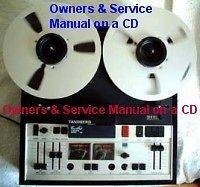 TANDBERG 10X REEL TO REEL OWNERS & SERVICE MANUALS CD