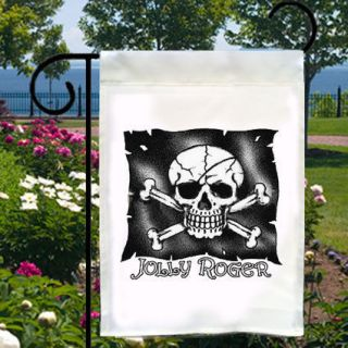 JOLLY ROGER Pirate NEW Small Garden Flag Banner Free Ship USA Home
