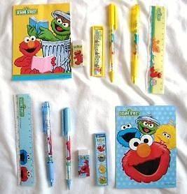 12 SESAME STREET Elmo & Friends Stationery Gift Set Wholesale School
