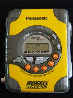 Panasonic AM FM Radio Cassette Player Walkman Shock Wave RQ SW10 Auto