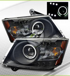 08 10 Grand Caravan CCFL Halo Projector Headlights BLK (Fits Dodge