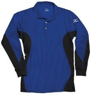 2012 Mizuno Warmalite Mens Long Sleeve Performance Polo Golf Shirt