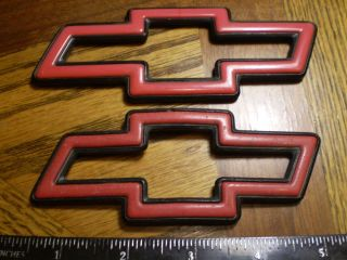 Chevy Monte Carlo Lumina red bowties hood and trunk OEM emblems