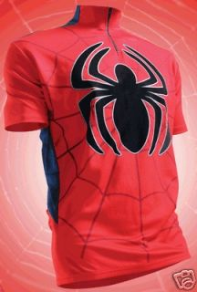 Pure Hero SPIDER MAN Bike Cycling Jersey Shirt, Small and Large