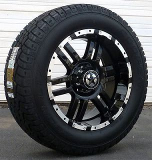 20 Black Wheels & Tires Dodge Truck, Ram 1500, 20x9 Gloss Black 20