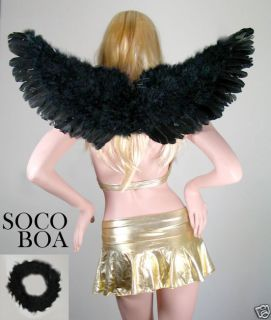 Black Feather Halloween Costume Angel Wings Adult HALO photo props