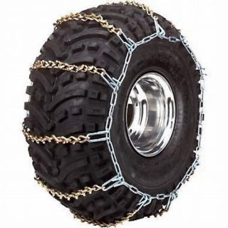REAR ATV UTV Tire Chains Pair Polaris Ranger XP EFI 2x4 4x4 6x6 2009