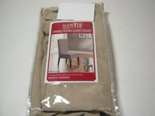Dining room chairs   faux suede, brown, 8 total, completely covered