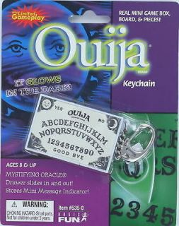 OUIJA Board miniature game KEYCHAIN Keyring GLOWS in the Dark Oracle