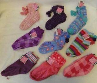 Lot of 9 Joe Boxer Girls Socks Slipper Fleece Holiday Booties Sock