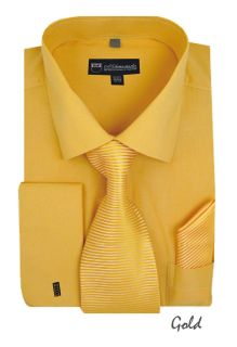 mens gold dress shirt in Dress Shirts