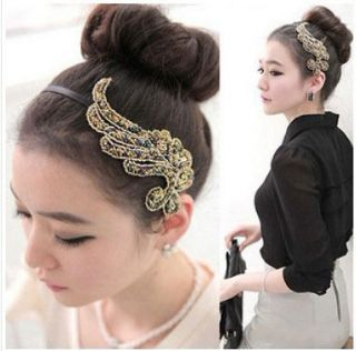 Hot Sell Korean Style Angel Wing Rhinestone Hair Band Headband