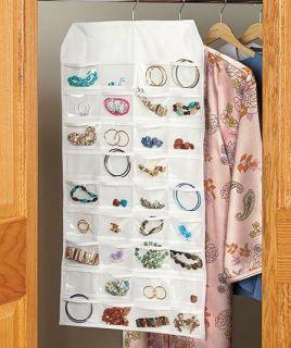 Sided Jewelry Organizer valet wardrobe closet storage 72 pockets