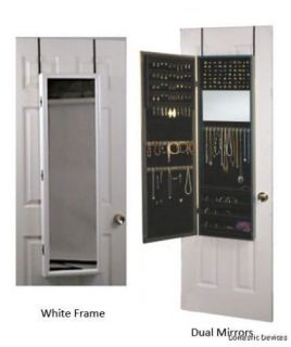 Mirrored Jewelry Armoire Organizer Door or Wall Hanging