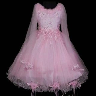 Pink Flower Girls Party Pageant Wedding Summer Dress New