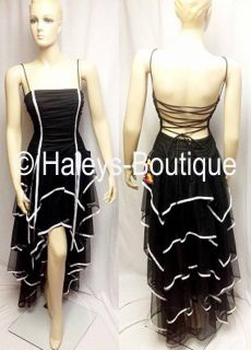 Nites By Stacy Sklar Size 3, 13 Black White Dress Juniors Prom Party