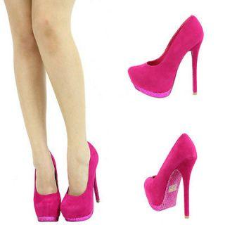 glitter pink high heels in Heels