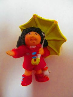 CABBAGE PATCH KIDS CPK 1984 Girl In Raincoat With Umbrella Duck