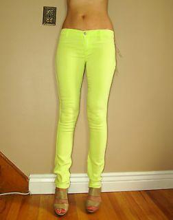 Elizabeth&James 2012 Mick Skinny Neon Sunny Lime Green Zip Leg Jean