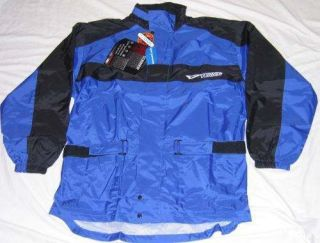 Teknic OTISCA Rain Jacket Airtex Lining Motorcycle Rainwear Blue SMALL