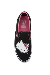 Vans Hello Kitty Black Slip Ons Shoes