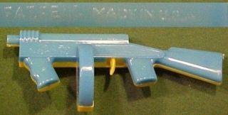 Old Plastic Clicker Thompson Toy Submachine Gun