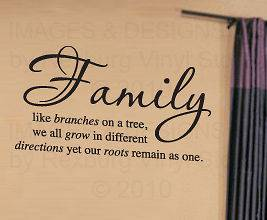 Vinyl Wall Decal Art Quote Inspirational Family Sticker Tree Together