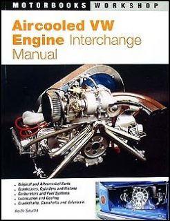 VW Engine Parts Interchange Manual Bug Beetle Karmann Ghia Volkswagen