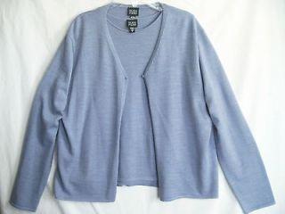 EILEEN FISHER Womens Blue Merino Wool Twinset Tank Top Cardigan
