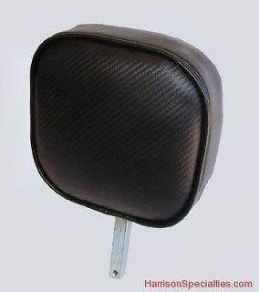 FIBER motorcycle backrest for Corbin seat Harley Honda Drivers 7 x 7
