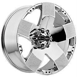 20 inch Ballistic Hyjak chrome wheels rims 8x6.5 8x165 Dodge Ram 2500