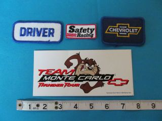 MONTE CARLO CHEVROLET RACING PATCH DECAL TAZ THUNDER TOUR CHEVY DRIVER