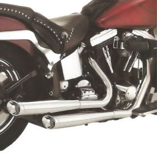New BUB 7 Slip On Exhaust Harley Softail FXSTD/FLST Fatboy 07 10