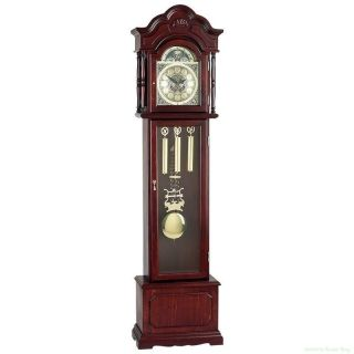 Edward Meyer Grandfather Clock Beveled Glass Features 31 day Movement