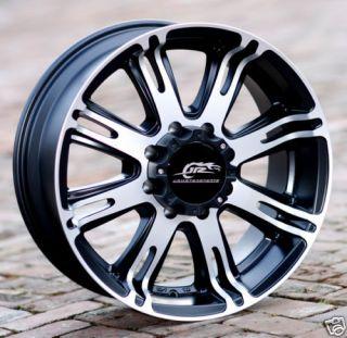 18 inch Black Dale JR 708 wheel H2 Chevy Gmc Dodge 2500 3500 8 lug