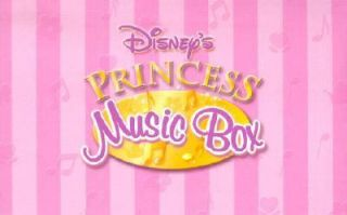 Disneys Princess Music Box With Five Books and a Necklace Inside by