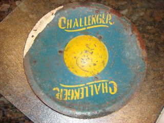 Vintage CHALLENGER Metal Toy Part Hubcap Pedal Car What Is It