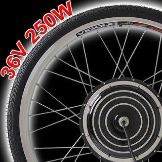 Front Wheel Electric Bicycle Motor Kit E Bike Cycling Hub Conversion