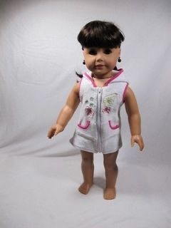 American Girl Doll   Dark Brown Hair, Brown Eyes, Earrings   Beautiful