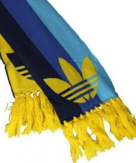 Adidas Originals Adi Retro Scarf BNWT Blue & Yellow Trefoil Reversible