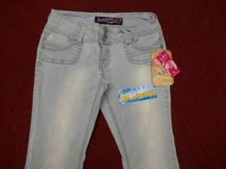 ANGELS JEANS CURVY SKINNY LOW MINI BOOT COTTON/SPANDEX NWT SIZES 1 TO