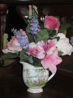 ROYAL ALBERT Silver Birch CREAMER Pink & Purple Floral   FLOWER