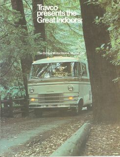 1966 ? Dodge TRAVCO RV Motorhome 210 Brochure / Catalog