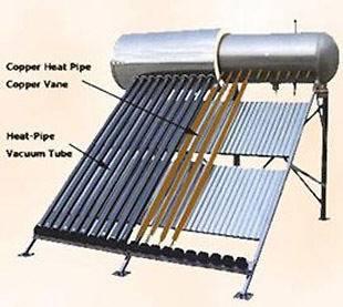 300 Liter 30 Vacuum Tube Pressurized Passive Solar Water Heater System