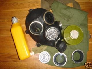 Russian USSR millitary black rubber gas mask GP 7V, new
